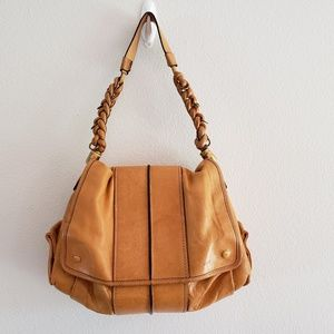 Chole Tan Leather Purse With Braided Handle